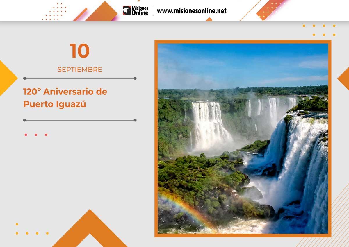 Puerto Iguazú celebra el aniversario 120